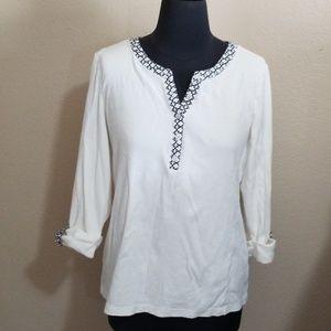 Karen Scott 3/4 Length Sleeve Blouse